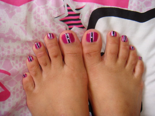 Toe Nail Pink Love Design toe nail art
