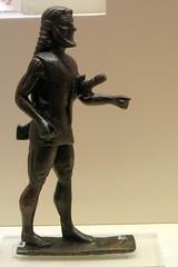 Walking warrior (diffendale) Tags: museum bronze walking beard ancient greece grecia figure sword olympia warrior museo figurine rim antico laconia elis archaic tunic olimpia bronzo scabbard laconian 6thcbce lakonian pleiades:findspot=570531