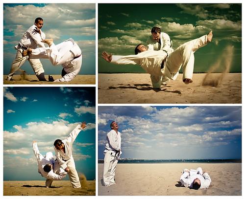 Aikido - Beach Dojo [polyptych]