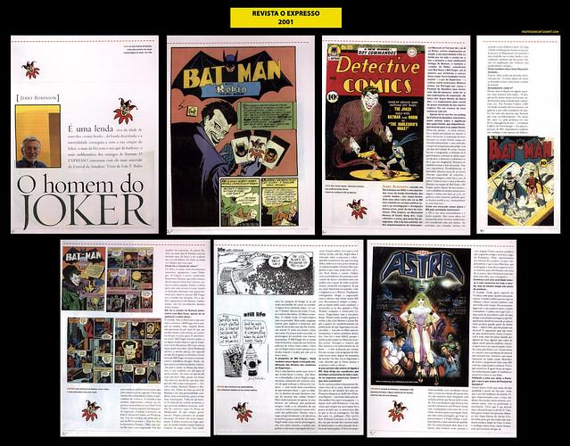"""""""O homem do Joker"""" - Revista O Expresso - 2001"""