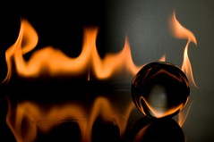 Sphere (ICT_photo) Tags: glass ball fire flame sphere ictphoto ianthomasguelphontario