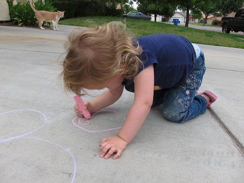 Sidewalk chalk fun