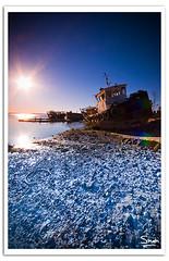 Time To Retire (Hussain Shah.) Tags: blue sea sky sun port d50 boat nikon time sigma rays kuwait graduate 1020mm kuwaiti doha shah hussain retire cokin gnd aplusphoto tubacco muwali