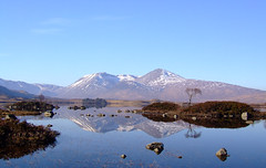 Lochan na h-Achlaise (chuffinpuffin) Tags: blue winter mountains reflection reflections landscape scotland fuji moor rannoch s5600