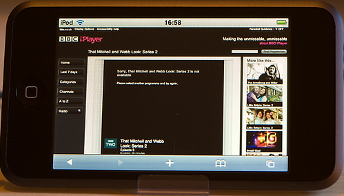 BBC iPlayer beta for iPhone & iPod Touch