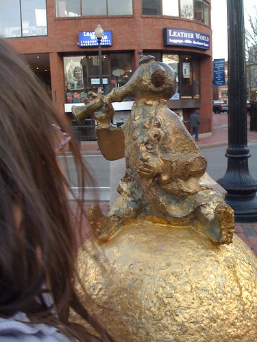 Igor Fokin statue in Harvard Square