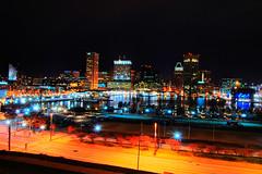 Night View of Baltimore (HDR) (tyama) Tags: light night harbor nikon view award maryland baltimore inner hdr 400asa d40x