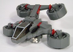 ZOOOOOOOOOM! (DARKspawn) Tags: fighter lego space orca hover vtol ornithopter classicspace hunterseeker