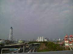大井埠頭に渡る途中(首都高上)