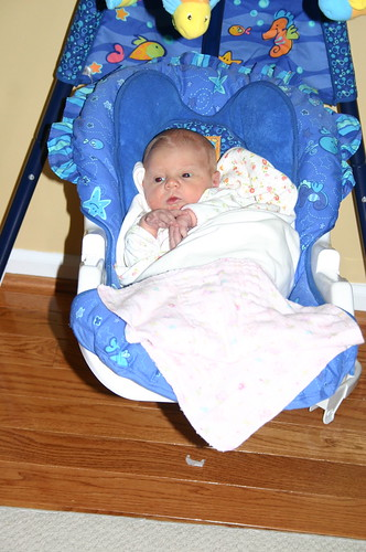 Madelyn chillin in the swing