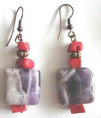 Collezione So chic - orecchini rossi e viola (Gio Creativesoul) Tags: handmade orecchini