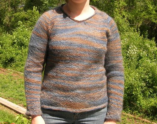 Mohair raglan sweater FO