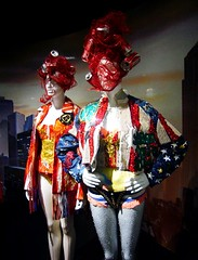Superheros: Fashion and Fantasy (ggnyc) Tags: nyc newyorkcity costumes fashion museum design costume gallery manhattan exhibition superhero cocacola cans superheroes met recycle sequins couture starsandstripes metropolitanmuseumofart avantgarde sportswear superheroesfashionandfantasy