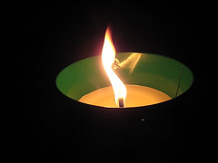 citronella-candle-in-the-backyard