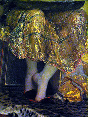 Shimmering Salome,IMG0030 (Lanterna) Tags: feet french costume clothing european embroidery paintings skirt fabric salome knees metropolitanmuseum lanterna shimmering metmuseum mma brushwork reignault