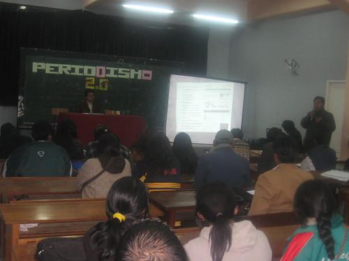 Seminario Periodismo  2.0 en La Paz