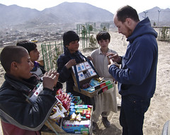 Giovanni and some Afghan kids