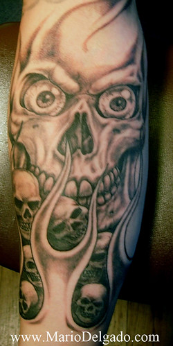 sleeve, horror tattoo