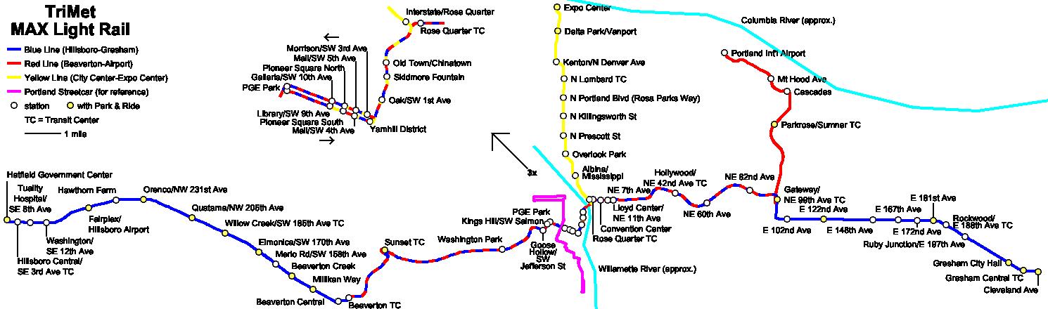rosecitytransit a better max light rail map
