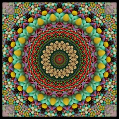 The Sweet Life (Lyle58) Tags: abstract geometric circle candy kaleidoscope mandala symmetry zen harmony reflective symmetrical balance circular kaleidoscopic kaleidoscopes kaleidoscopefun kaleidoscopesonly brandyshaul