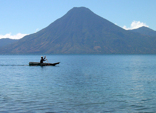 Mayan Fisherman on Lake Atitlan