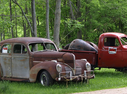 Red Truck and Gray Dodge - For Sale