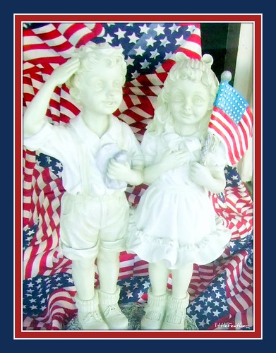 STARS & STRIPES and BOY & GIRL STATUES