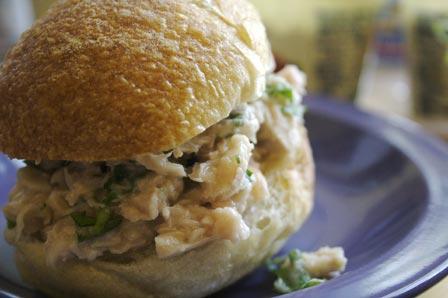 Tuna and white bean sandwich