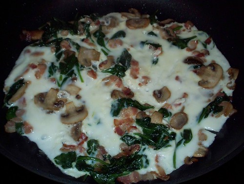 egg white vegetable omelet