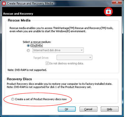 what is hp system recovery
