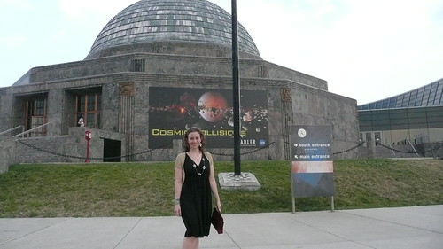 Jessica at the planetarium