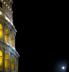 Colosseo and Moon (Martjusha) Tags: moon rome detail roma night colosseo platinumphoto anawesomeshot ysplix damniwishidtakenthat