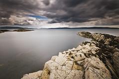 Isle of Mull from Mingarry Castle (Corica) Tags: uk longexposure greatbritain castle water landscape scotland britain gb isleofmull mull ardnamurchan sigma1020mm benmore kilchoan mingarry soundofmull corica nikond300 mingarrycastle caistealmhìogharraidh beinnmhòr