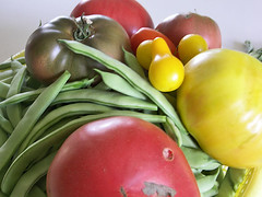 sunday's harvest (candyhargett) Tags: cooking vegetables gardens garden candy harvest tomotoes lexingtonva raphineva candylynn valleyofvirginia rockbridgecountyva rockbrigecountyva wwwcandylynn