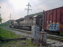 Former Illinois Central units lead a freight train Hawthorne Junction. Chicago / Cicero Illinois. june 2007.