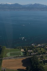 There must be worst places to live (timtom.ch) Tags: blue lake alps green airplane boats switzerland boat aerial sail airborne léman aerialphotography stsulpice vaud dorigny unil léman lespierrettes