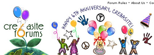 Cre8asite Forums 6th Anniversary Logo