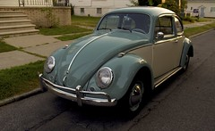 1962 (Beccapixels) Tags: sunset vw bug volkswagen beetle cream 1962 paintjob babyblue twotoned soawesome