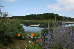 Birdhouses and Boat (Read2me) Tags: river capecod wellfleet x2 ga