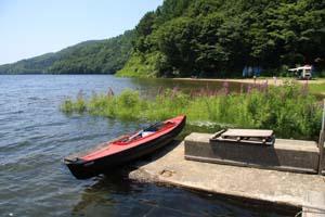 小野川湖のカヤック