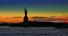 Colorful Lady (ecco9494) Tags: nyc sunset usa france water silhouette statue stone america liberty freedom harbor cooper statueofliberty jol hudsonbay ladyliberty instantfave bej totalphoto mywinners abigfave anawesomeshot theunforgettablepictures libertysunset elitephotography theperfectphotographer damniwishidtakenthat statueoflibertysunsets