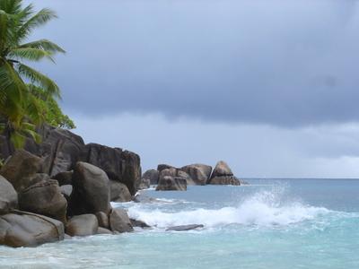 Anse Takamaka in Mahe (Seychelles)