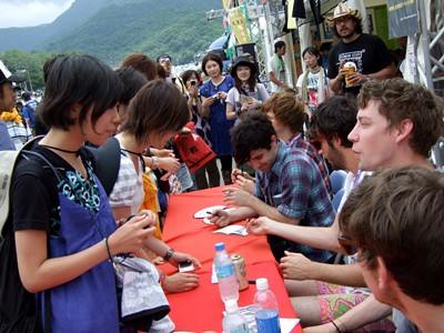 Hana & Maco with Foals at Fuji Rock Festival in Japan!