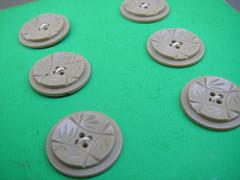 Cartela de botão vintage - frente