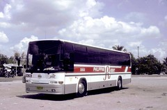 Philippine Rabbit Nissan Diesel RB46S CVK-918 (fleet No 3063) at a roadside stall at Dau, Mabalacat  between Manila and Tarlac Tarlac, Philippines.