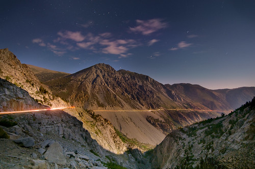 Tioga Pass Road at Night
