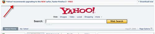 Yahoo! Endorses Firefox3