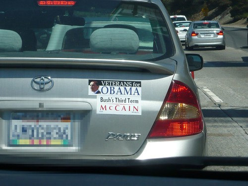 Obama campaign bumper stickers