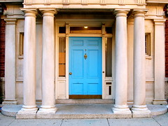 Turquoise Door (Images by Arden) Tags: street door cambridge detail building nikon colorful turquoise massachusetts harvardsquare d40 imagesbyarden