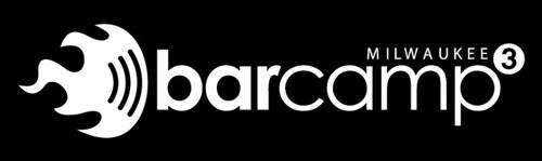 BarCampMilwaukee3 Logo Design B&W Reversed